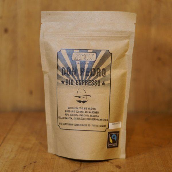 products bio espresso gemahlen don pedro 250g 04 010 hofladen melder