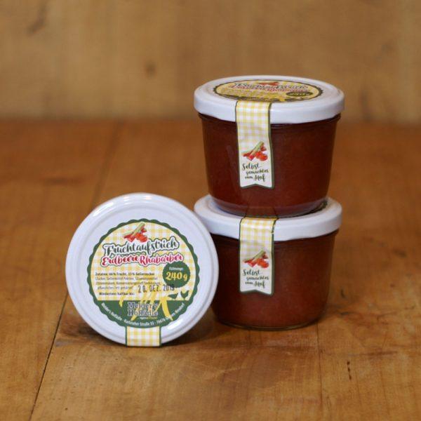 products fruchtaufstrich erdbeere rhabarbar 240g 05 023 hofladen melder 1